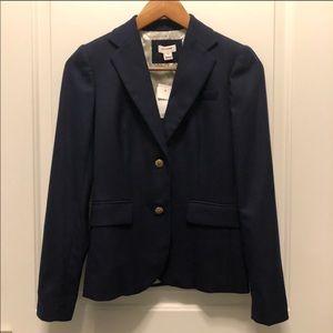 JCrew Factory Navy Wool Schoolboy Blazer 00
